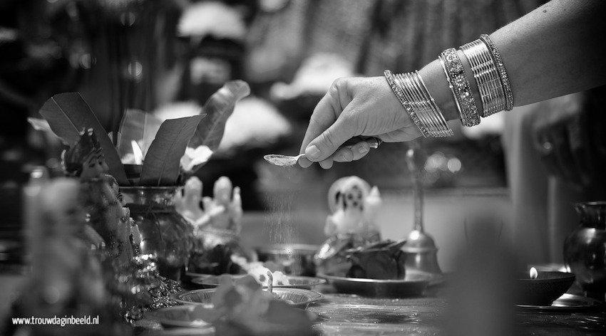 Bruidsfotografie Hindoestaanse bruiloft Eindhoven