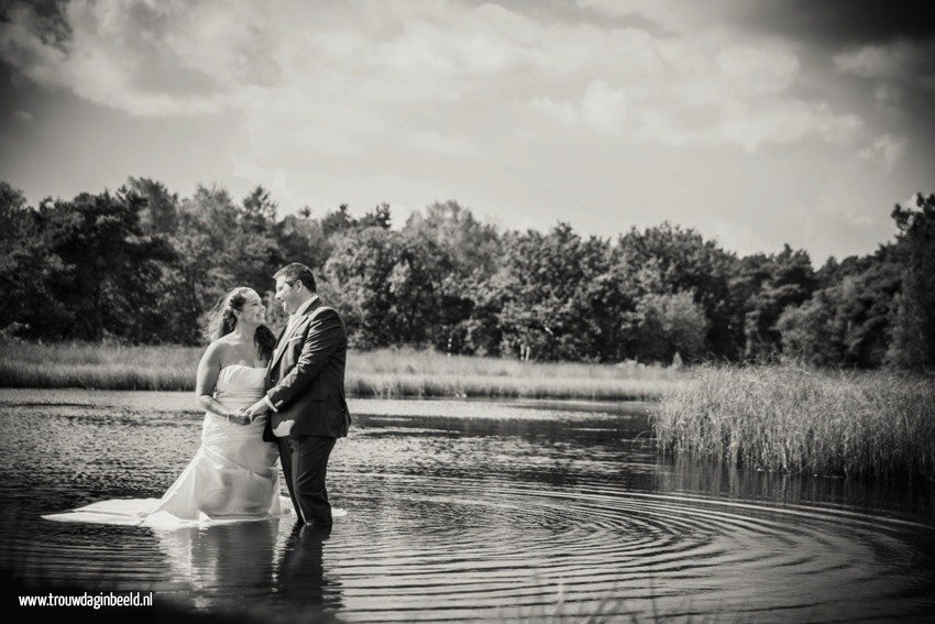 Trash the Dress reportage Strabrechtse Heide Heeze