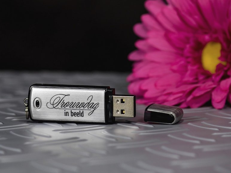 Trouwreportage op USB-Stick