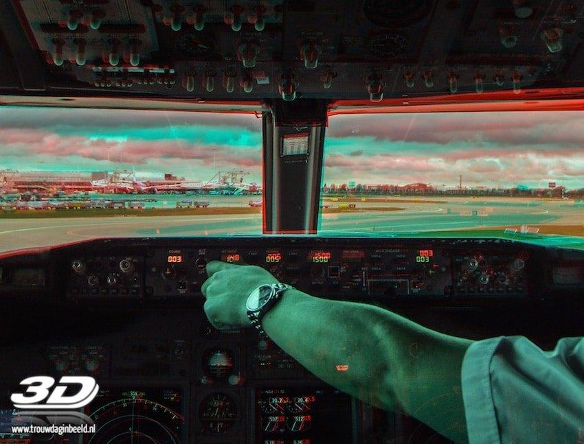 3D foto cockpit Boeing 737-800