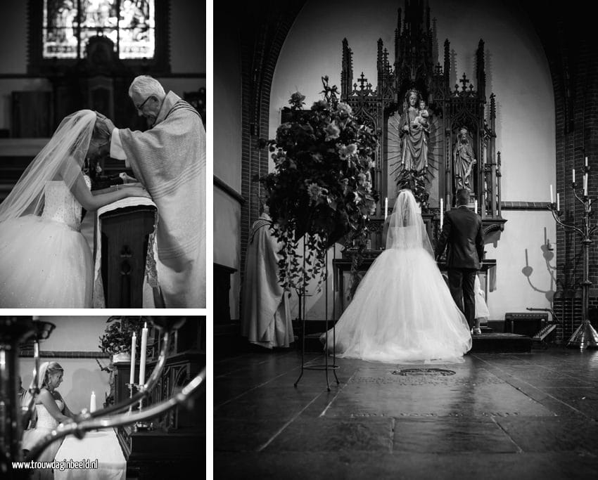 Bruidsfotografie kerk Goirle