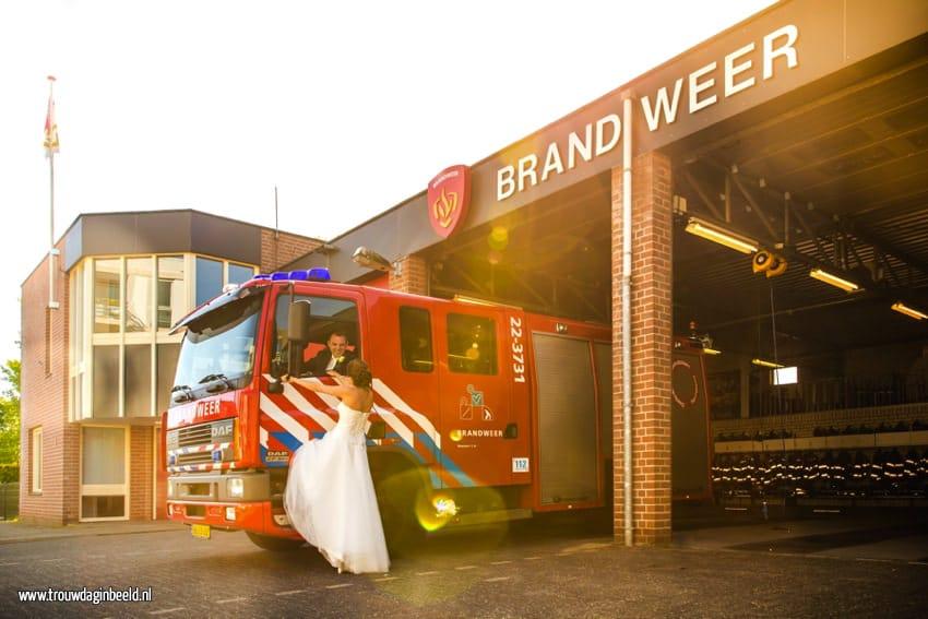 Trouwreportage Strijp-S Eindhoven en Brandweer Nuenen