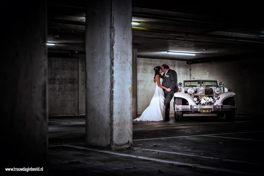 Bruidsfotografie parkeergarage