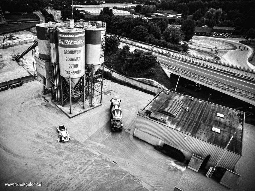 Bruidsfotografie betoncentrale Someren