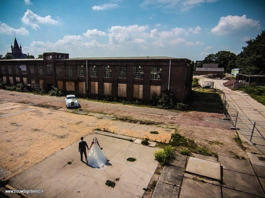 Trouwreportage drone Leerfabriek Oisterwijk