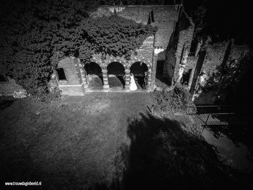 Trouwreportage met drone Kasteel Asten
