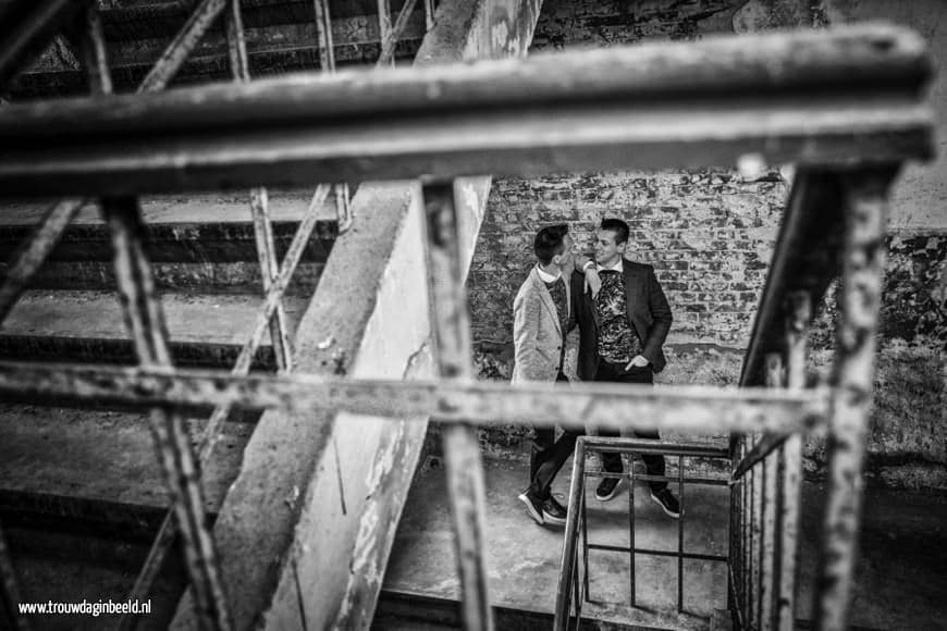 Trouwreportage Patrick en Theo U-gebouw Leerfabriek Oisterwijk