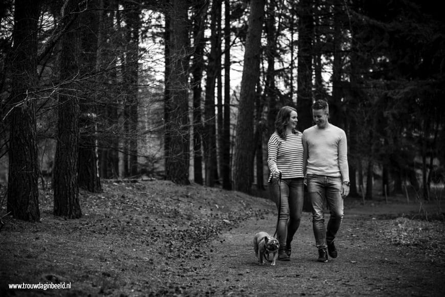 Loveshoot in het bos van Mierlo