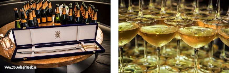 Champagne toren bruiloft