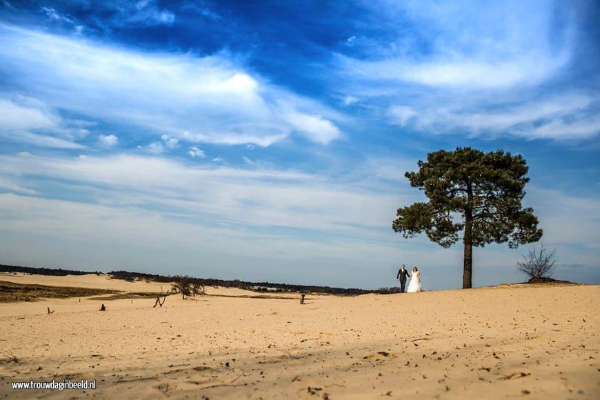 Trouwreportage Drunense duinen