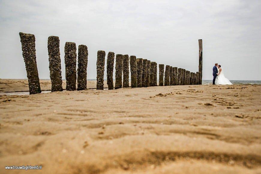 Trouwreportage aan het strand