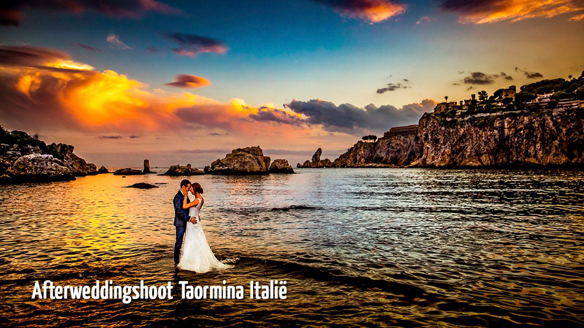 Afterweddingshoot Taormina Italië
