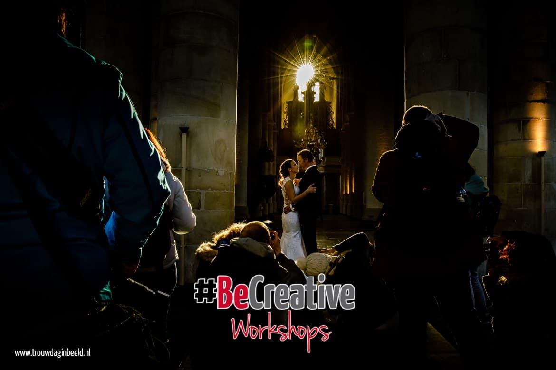 Workshop bruidsfotografie met echt bruidspaar