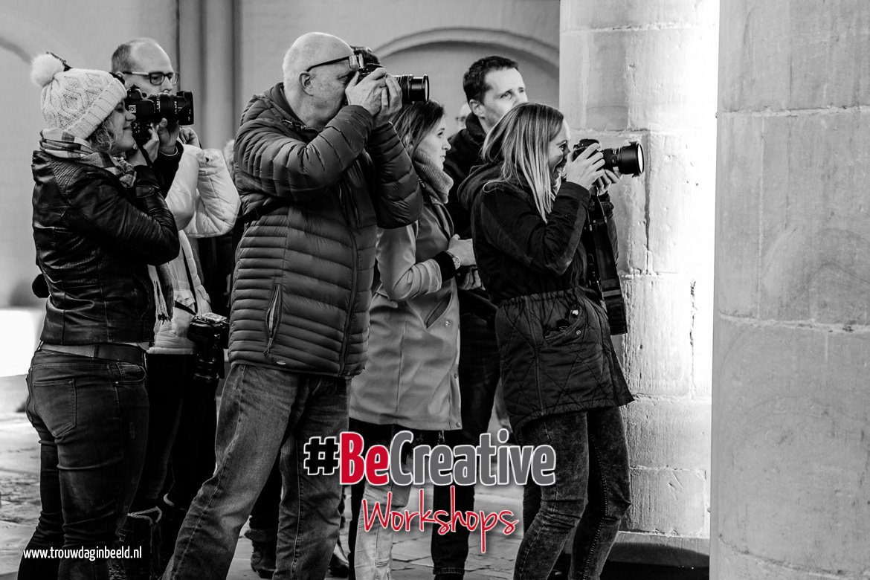 Veel praktijk fotograferen tijden de workshop flitsen en fotografie