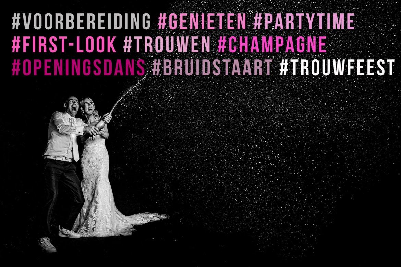 Tarieven trouwreportage All-Inclusive hele dag + feestavond pakket