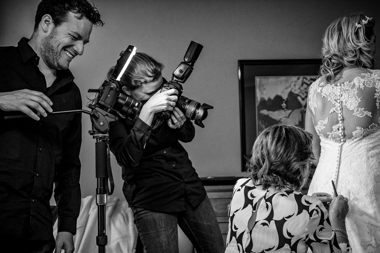 Trouwdag in Beeld bruidsfotograaf achter de schermen