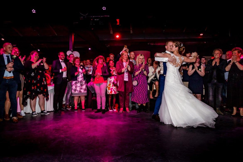 Openingsdans Feestfotografie trouwen Portfolio Bruidsfotograaf Trouwdag in Beeld Trouwen
