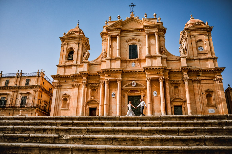 Trouwreportage in Italië Noto Sicilië
